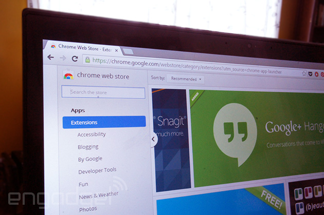 Chrome Web Store on Windows