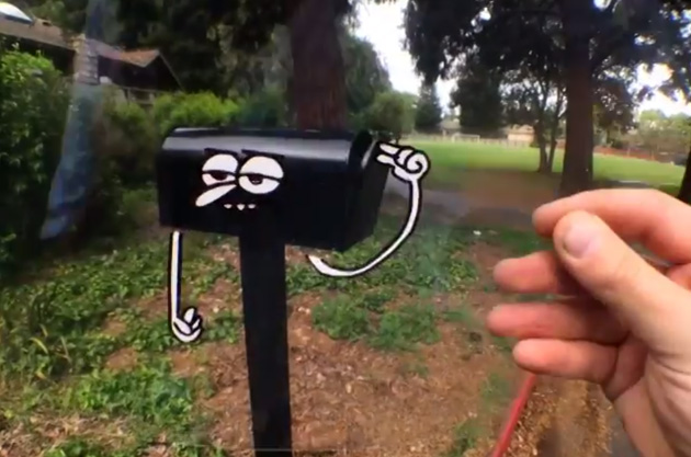 Marty Cooper's animation has a mailbox open itself