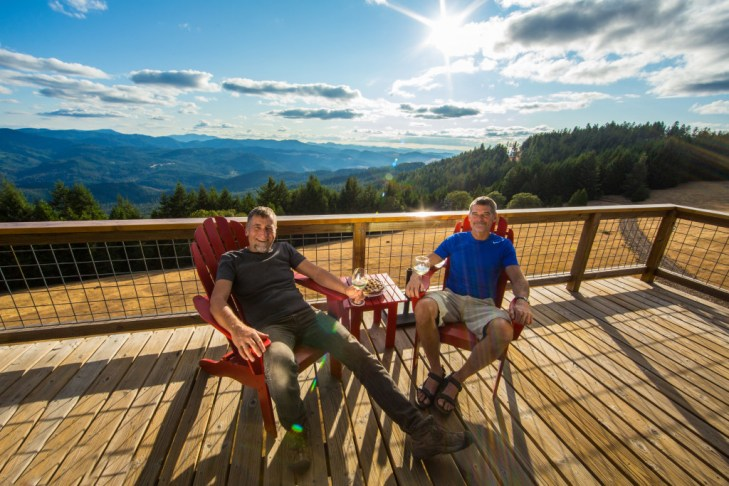 Tom Hanny/ZillowAlan Colley, left, and Dabney Tompkins wouldn't trade their life above the trees for anything.
