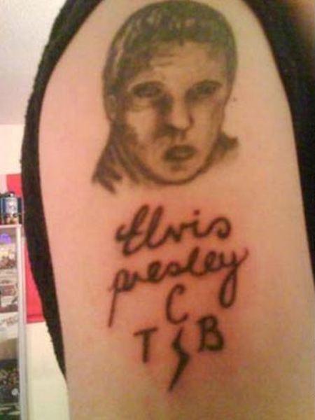 worst tattoos of celebrities, elvis presley