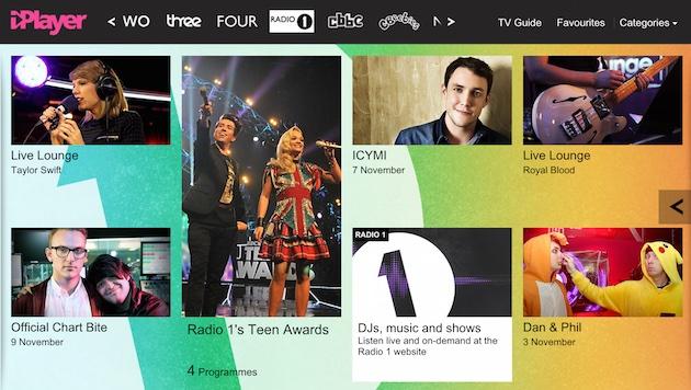 La BBC dà a radio 1 il suo proprio video canale su iPlayer