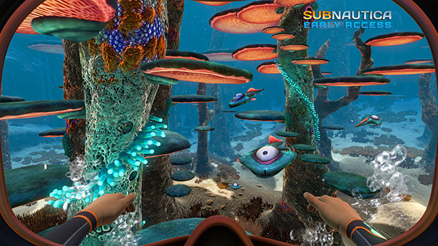 The strength and passion of indie devs behind games like Subnautica is what drives them to success. The image shows a beautiful underwater scene from Subnautica.