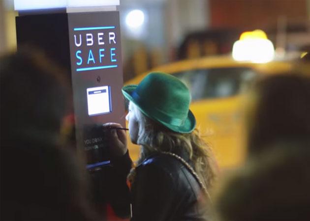 The Uber Safe kiosk in Montreal
