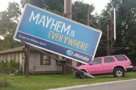 funny ironic photos, irony photos, ironic allstate sign