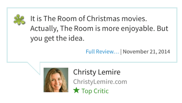 worst rotten tomatoes reviews, most rotten reviews from rotten tomatoes, saving christmas