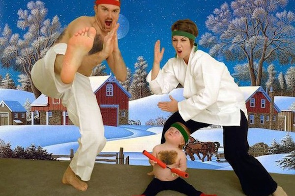 is it ok that These Crazy Family Christmas Cards Were Created?   is