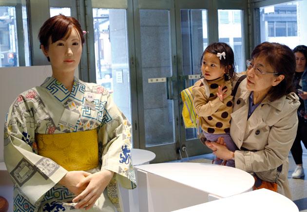Toshiba's Aiko Chihira greeter robot