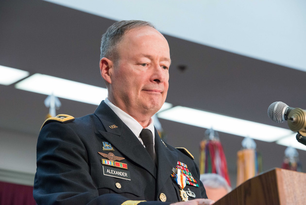 General Keith Alexander as he retired from the NSA