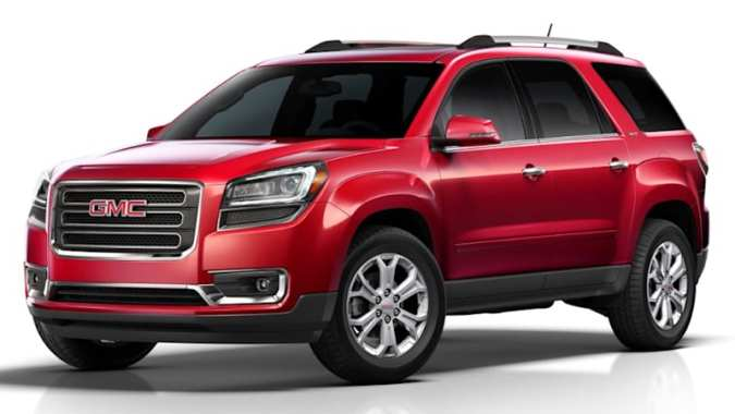 GM issues stop sale for 3 SUVs over incorrect MPG rating   Autoblog This week  GM sent a memo to Chevy  GMC  and Buick dealers to tell them to  stop selling three SUVS  The 2016 Chevy Traverse  the GMC Acadia  and the  Buick