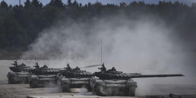 Imagen de fichero de maniobras rusas en 2017.