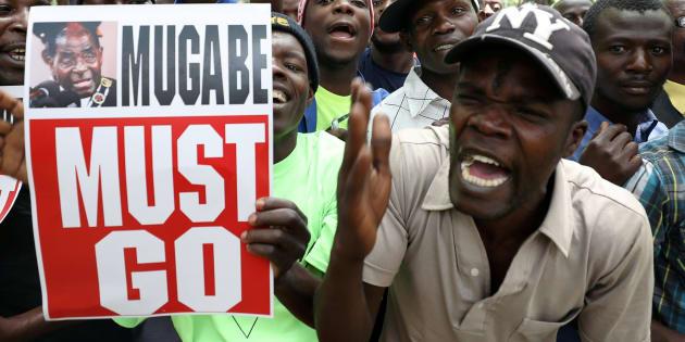 Protestas contra la permanencia en el cargo del presidenta de Zimbabue, Robert Mugabe.