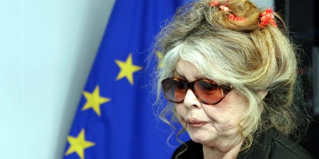 Brigitte Bardot à la Commission européenne de Bruxelles, le 9 juin 2006.