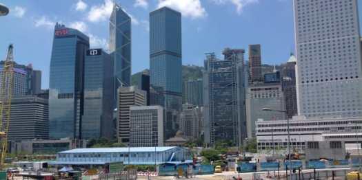 A scene from Hong Kong.