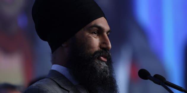 Federal NDP Leader Jagmeet Singh speaks at the B.C. NDP Convention in Victoria on Nov. 4, 2017.