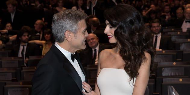 George Clooney y Amal Alamuddin, el pasado febrero en París, en la gala de los Premios César del cine francés.