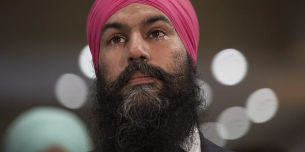 Jagmeet Singh listening to a speech before being elected leader of the federal NDP party in Toronto on Sunday. He faces several challenges early on.