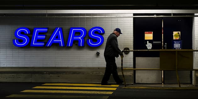A customer enters the Sears store in North Vancouver, B.C. Feb. 23, 2011.