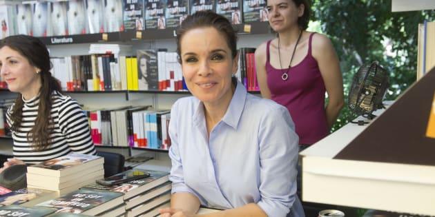 La cronista Carme Chaparro durante la presentación del libro 'No soy un monstruo' durante la Feria del Libro 2017 de Madrid.