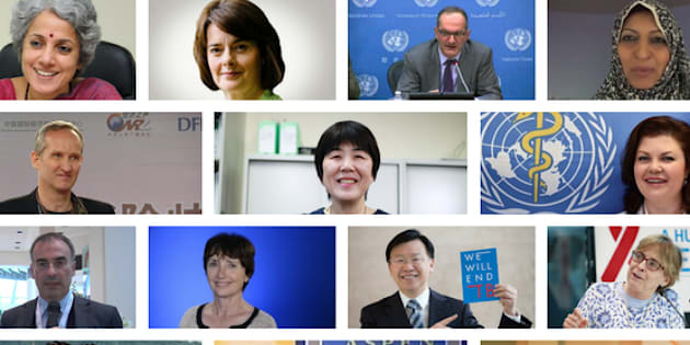 The newly appointed World Health Organization leadership team.