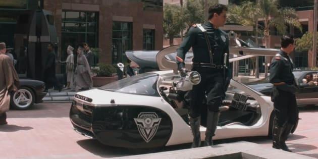 Ford a imaginé une voiture de police autonome qui vous course automatiquement  après un excès de vitesse (photo d'illustration, Demolition Man)