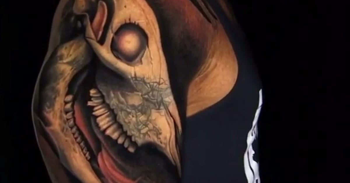 Dwayne The Rock Johnsons Epic Bull Skull Tattoo Is