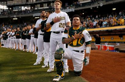 Image result for bruce maxwell knee