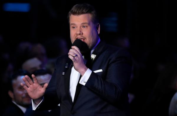 James Corden turns heads during his opening monologue at ...