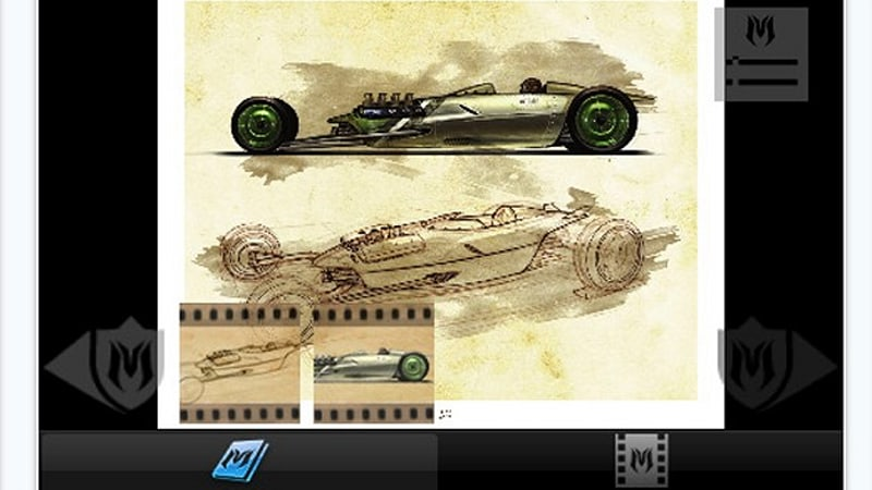 The Hot Rod Art Book for iPad teaches you how to draw cars [w ...