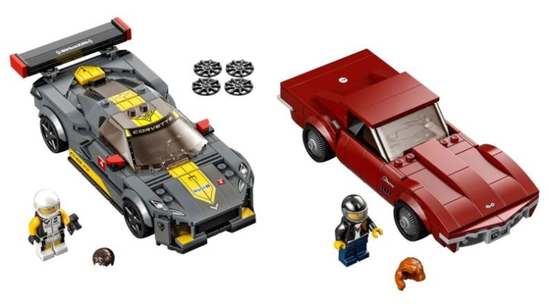 Lego Speed Champions 2021 12 Chevrolet Corvette C3 C8 R