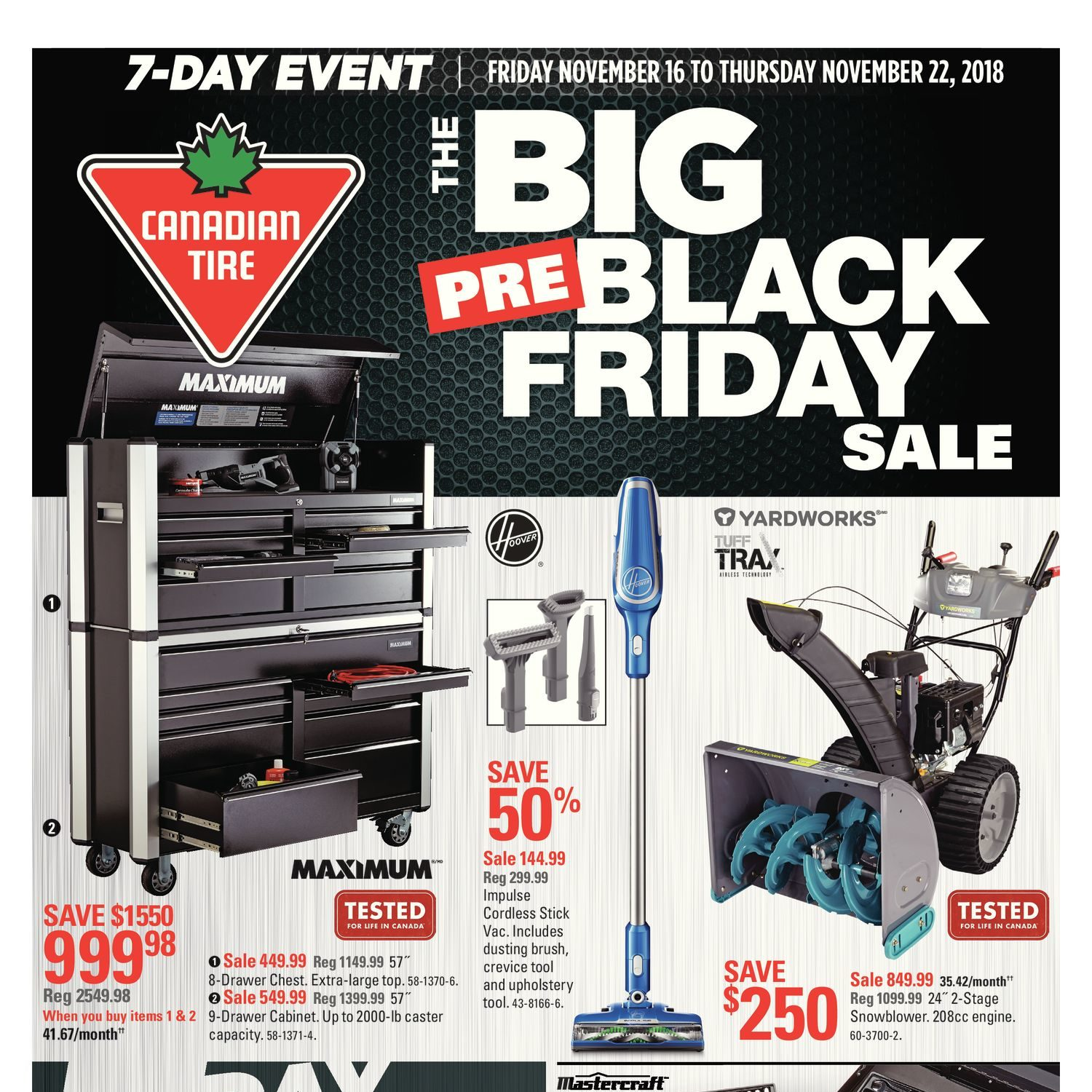 Canadian Tire Weekly Flyer 7 Day Event The Big Pre Black Friday Sale Nov 16 22 Redflagdeals Com