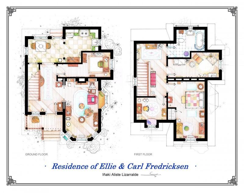 floor plan of home from Disney's UP