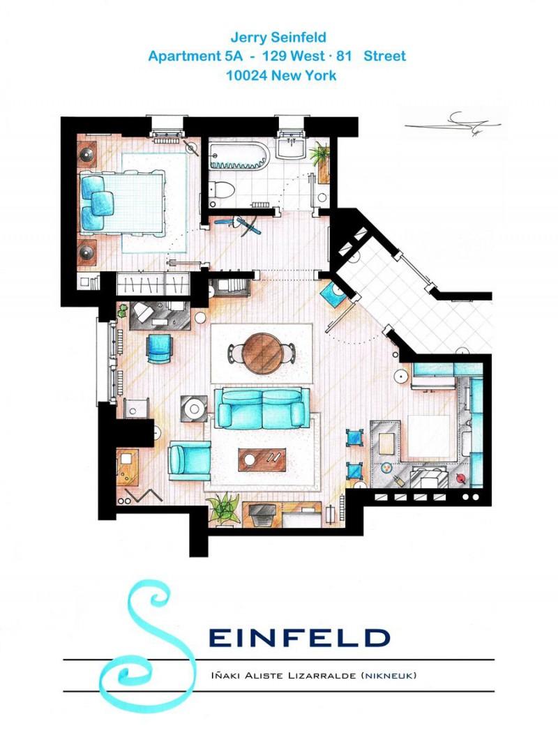 Seinfeld apartment floor plan