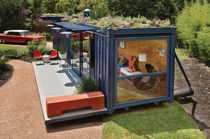 Shipping Container Guest House by Jim Poteet