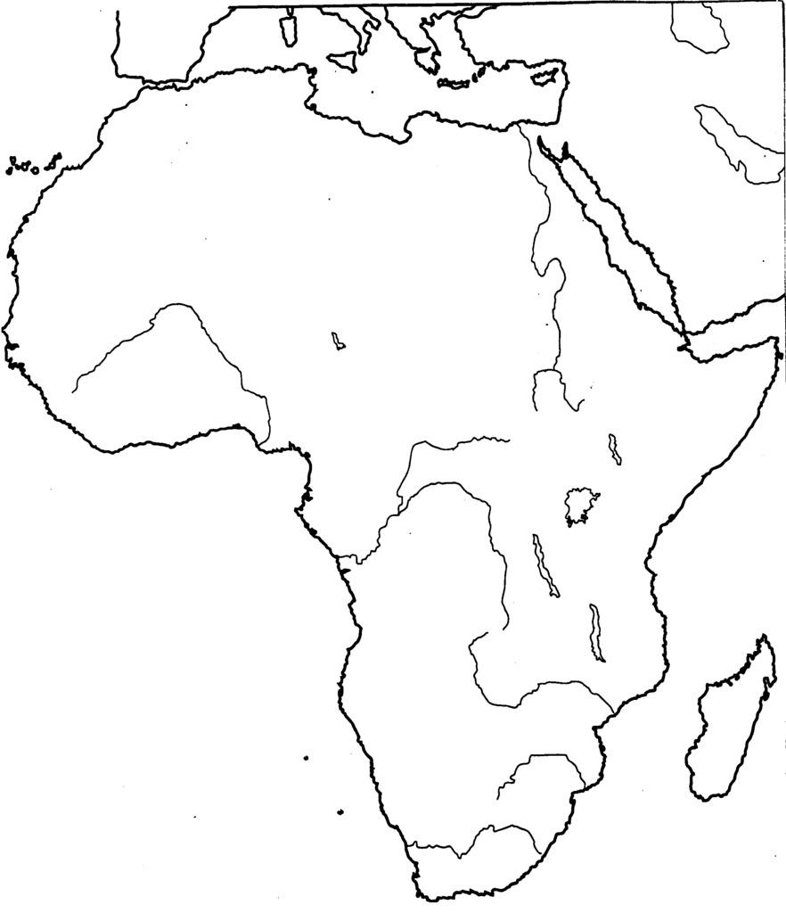 Sub Saharan Africa Physical Map Diagram Quizlet