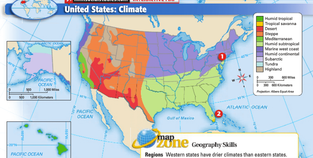 Learn vocabulary, terms, and more with flashcards, games, and other study tools. Us Climate Map Diagram Quizlet