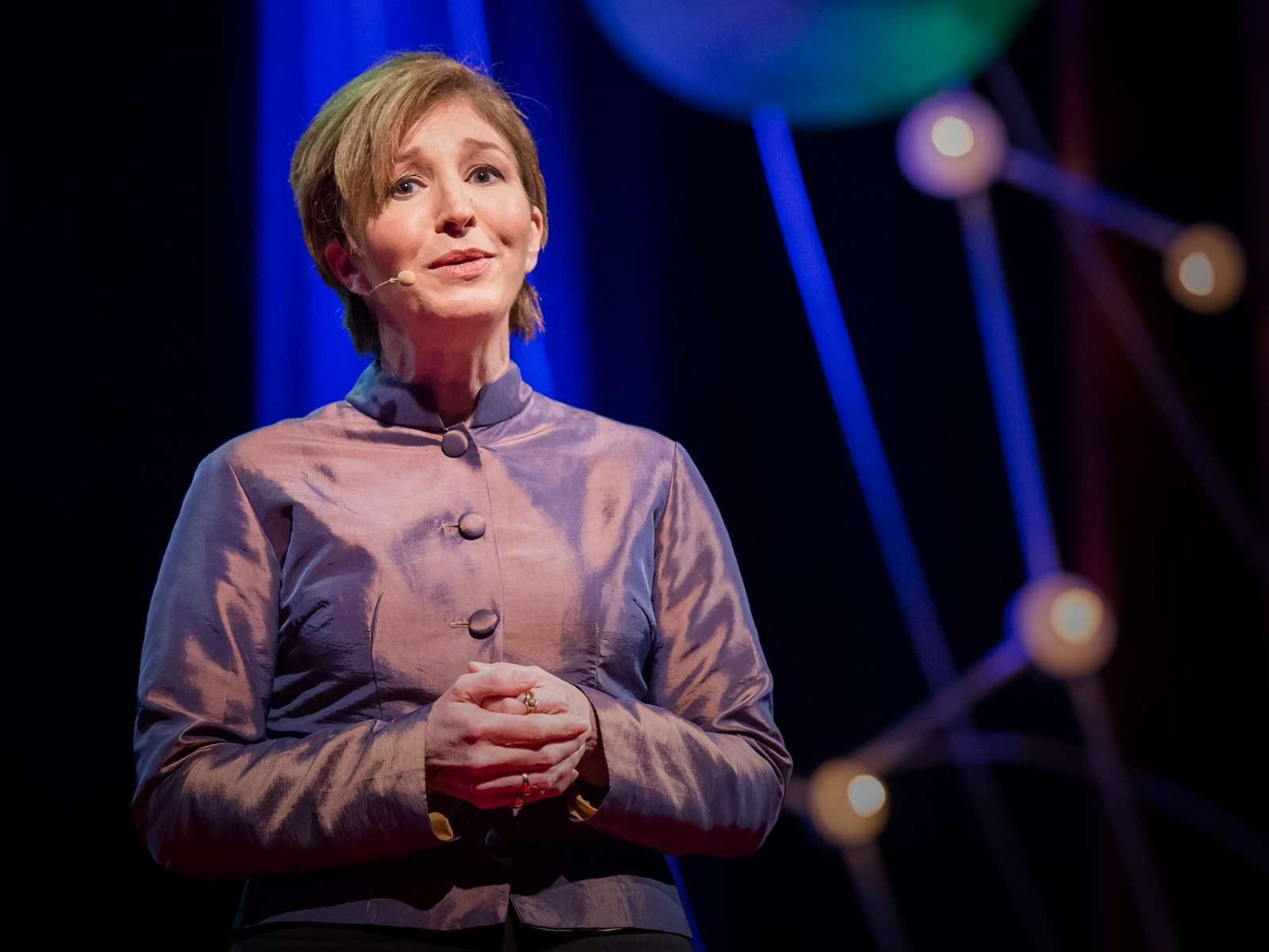 Picture of Anne-Marie Slaughter at her TED talk