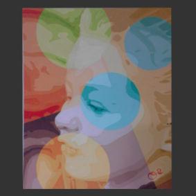 Promenade d'automne peinture de l'artiste O²