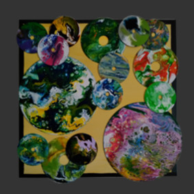 Oeuvre abstraite de l'artiste O²