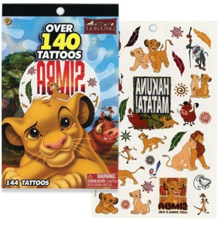 Disney紋身貼紙