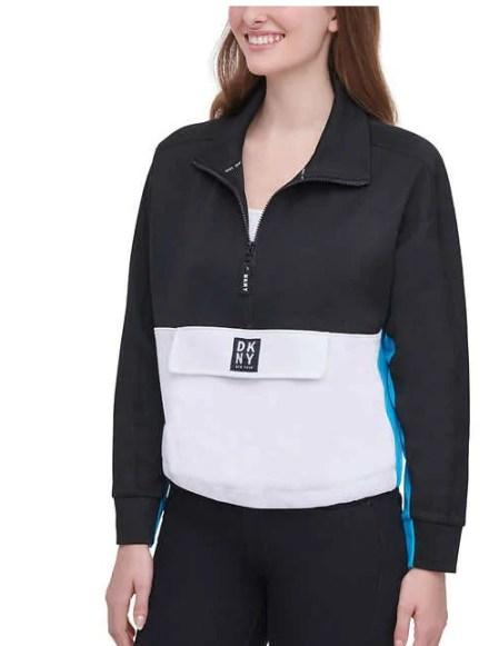 DKNY女裝拼色長袖上衣