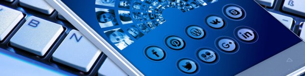 social media networks focused on a mobile phone from O2 REAL℠