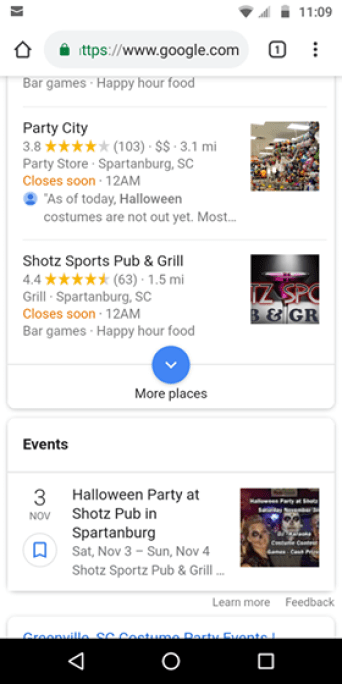 Small Business Guide to Online Marketing - 2019 - special event snippets