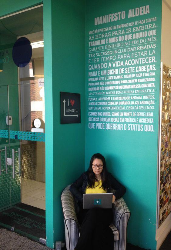 como funciona um coworking - Aldeia Coworking, Curitiba, PR (imagem: Pinterest)