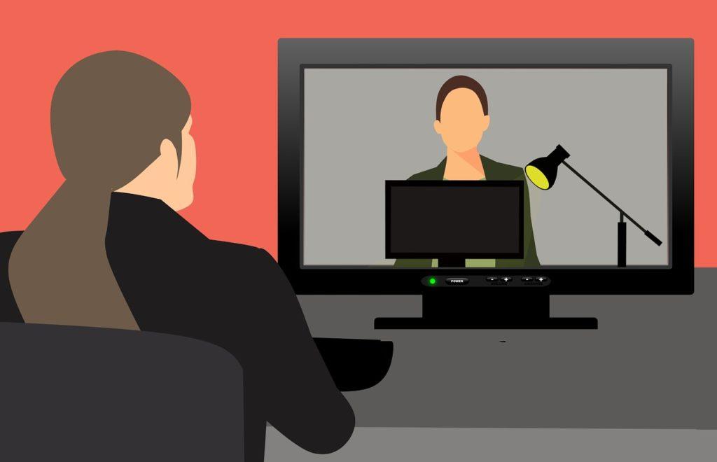 vídeo conferência - agente imobiliário