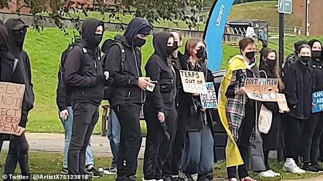 Masked mob demand trans row professor is sacked in campus