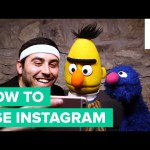 Grover and Bert Learn How to Use Instagram from a Millennial