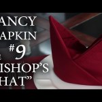 "Fancy Napkin #9 – The ""Bishop's Hat"""
