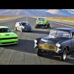 SEMA Drag Race: Hellcat vs Blasphemi vs Jeep FC vs Sonic! – 2014 SEMA Week Ep. 5