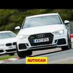 Audi RS3 vs BMW M140i track battle | Hot hatch review | Autocar