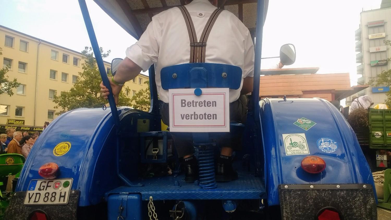 German farmer tractor